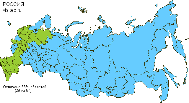 Travel Map Bedouins MCC in Russia