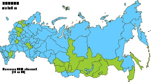 Карта посещенных регионов России